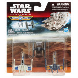 SET 3 FIGURINE MICROMACHINES EPISODUL VII XWING DOGFIGHT