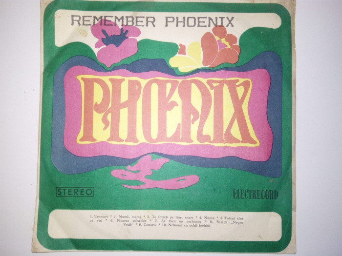 DISC VINIL REMEMBER PHOENIX