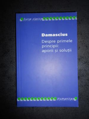 DAMASCIUS - DESPRE PRIMELE PRINCIPII: APORII SI SOLUTII (2006) foto