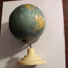 PVM Glob pamantesc didactic vechi / varianta mica / d = 9,50 cm si h = 16,50 cm