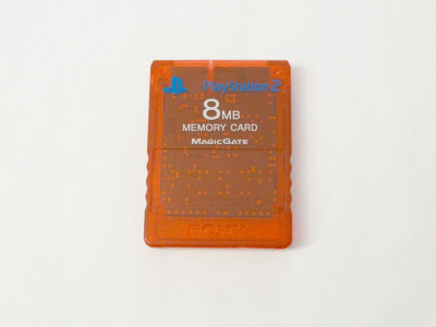 Card memorie Sony Playstation 2 PS2 8 Mb - original SONY - red clear foto