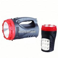 Lanterna LED 3W cu Acumulator si Panou 9 LED-uri YJ2827