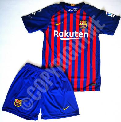 Compleu Echipament fotbal pentru copii 13-14 ani MESSI FC Barcelona foto