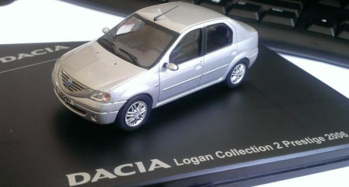 Macheta Dacia Logan Prestige 2006 - metalica, noua, 1/43