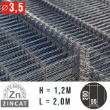 Cumpara ieftin Panou gard bordurat zincat, 1200 x 2000 mm, diametru 3,5 mm