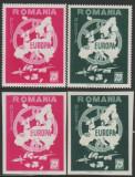 Romania Exil 1959, EUROPA vignete dt + ndt propaganda anticomunista Emisiunea 19