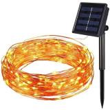 Instalatie craciun solara pentru casa sau gradina 120 LED, Oem