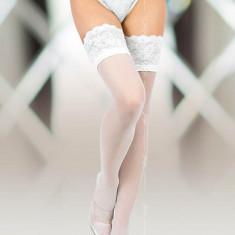 Ciorapi Albi Cu Dantela