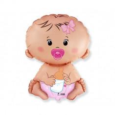 Balon folie figurina bebelus Baby Girl