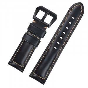 Curea piele compatibila Huawei Watch 2 Classic, telescoape Quick Release, 22mm, Negru