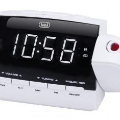 Radio cu ceas si alarma proiector RC 858PJ alb Trevi