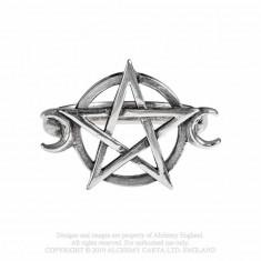 Inel pentagrama si semilune Zeita