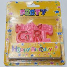 """Lumanare pentru petrecere, fata, """"Birthday Girl"""""""