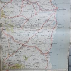 Harta Constanța, Mangalia, Cernavodă, Medgidia, Cobadin, 1928
