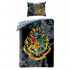 Lenjerie de pat copii Cotton Harry Potter HP-0068BL-200 x 140 cm