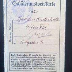 Carnet de elev Austria vechi vintage interbelic 1926 Viena