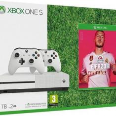 Consola Microsoft Xbox One S 1TB + Fifa 20 + 2 Controllere