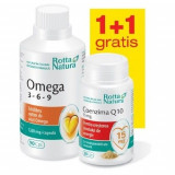 Omega 3-6-9 90cps + Coenzima Q10 30cps GRATIS Rotta Natura