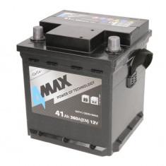 Baterie 4MAX 12V 41Ah 360A (R+ Borna standard) 175x175x190 B13 - flansa montare 10.5 mm (Pornire)