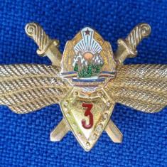 Insigna Aviatie Pilot militar specialist cls. a 3 a