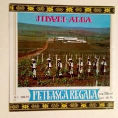 Etichete romanesti vin / eticheta veche romaneasca Feteasca Regala Jidvei '70