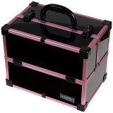 Geanta Makeup din Aluminiu, Black Case Violet - LUXORISE