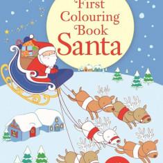 Santa First Colouring Book
