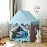 Cort pentru copii, albastru, casuta copii