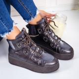Sneakers dama cu platforma gri Adisri -rl