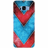 Husa silicon pentru Samsung S8, Blue And Red Abstract