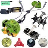 Cumpara ieftin SET OFERTA! Motocoasa PROCRAFT T4200 Pro , 6.1 CP, 9000 rpm, motor 2 timpi + accesoriu Cultivator + accesoriu Prasitoare