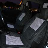 Huse scaune auto universale, Textil cu Insertii Piele Ecologica