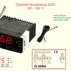 Termostat electronic digital Controler temperatura 220v 2 RELEE
