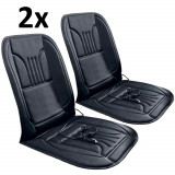 Cumpara ieftin Set 2x Huse Scaune Auto cu Incalzire, 12V, Reglabila pe 2 Trepte, Telecomanda, Putere 45W