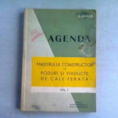 AGENDA MAISTRULUI CONSTRUCTOR DE PODURI SI VIADUCTE DE CALE FERATA - H. CINTEA VOL.I
