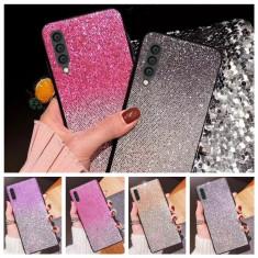 Husa Gradient cu sclipici pentru Samsung Galaxy A40 , A50 , A70
