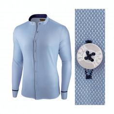 Camasa pentru barbati, albastra, slim fit - Neo Elegance, 3XL, L, M, S, XL, XXL