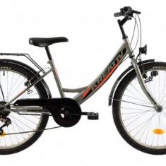 Bicicleta Copii Kreativ 2414 Gri 24 inch
