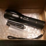 Lanterna Zoom Ultrafire cu led XM-L2 si 5 moduri de utilizare, cutie