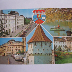 Carte postala - Sibiu, colaj, Necirculata, Fotografie
