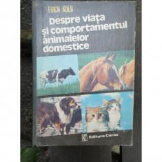 DESPRE VIATA SI COMPORTAMENTUL ANIMALELOR DOMESTICE