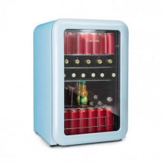 Klarstein PopLife, frigider pentru băuturi, frigider, 115 litri, 0 - 10 °C, design retro, albastru