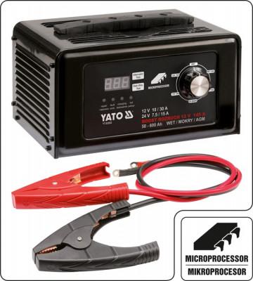 Redresor baterie auto 12V-24V 30A YATO foto