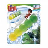 Cumpara ieftin Odorizant WC DR. DEVIL 5 Ball, Bicolor Natur Fresh, 35 g, Bile Odorizante Toaleta, Odorizant Toaleta, Odorizant Anticalcar pentru WC, Odorizant pentru