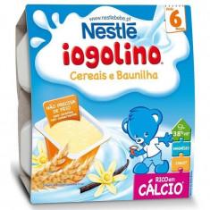 Cereale copii NESTLE Baby Iogolino cereale si vanilie 4x 100g de la 6 luni
