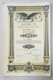 ' DATORIA PUBLICA A ROMANIEI ' TITLU DE 5000 DE LEI , EMIS IN 28 IULIE 1936