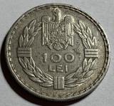 100 Lei 1932 Paris, Argint, Romania XF, Luciu partial (la litere), RARA!