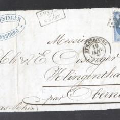 France 1866 Postal History Rare Front Cover 20 C NAPOLEON DB.241