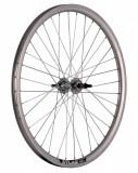 Roata Bicicleta Spate Atlas 24 , 507X18, Alu Dubla, Argintie Natur, V-Brake Cnc, Butuc Viteza Otel Nichelat, 36H, 3 8 Old13249