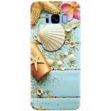 Husa silicon pentru Samsung S8, Blue Wood Seashells Sea Star